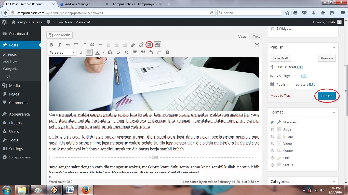 membuat, website, blog, wordpress, cara, belajar, tutorial, artikel, postingan