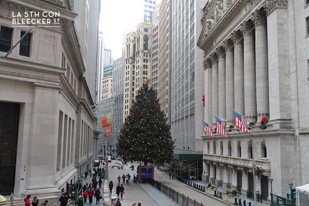 Navidades en Nueva York que ver y hacer arbol Wall Street