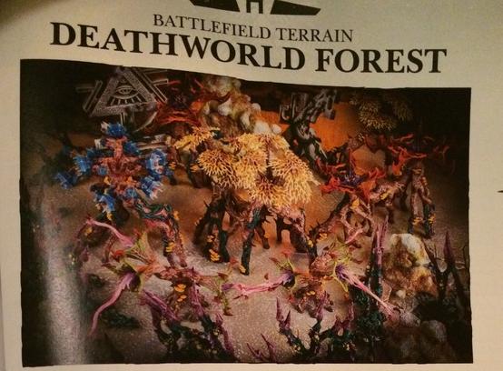 Eldar Deathworld Forest and Eldritch Ruins...
