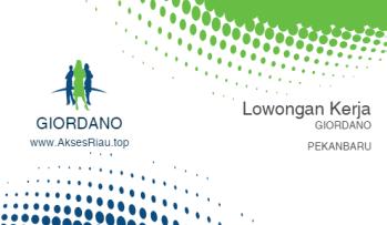 Access Riau Top, Jobs at GIORDANO Pekanbaru July 2017