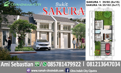 Gambar dan Denah Tipe SAKURA 1 - 35/90 dan 1A - 35/102