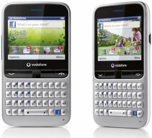 Vodafone 555 Blue QWERTY keypad Facebook Phone Price India