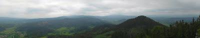 Panorama z Sokolika na południe i południowy wschód.