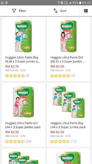 Lazada Malaysia Baby Fair Huggies Ultra Pants Boy Girl Diapers Super Jumbo Pack Discount Promo