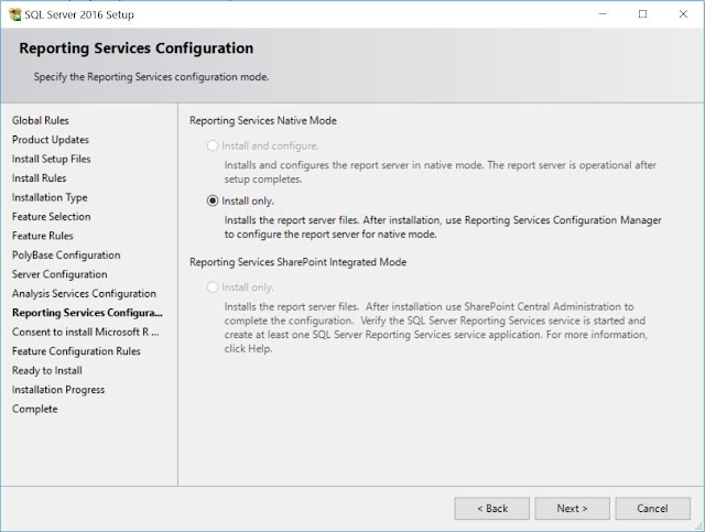 Reporting Services Configuration