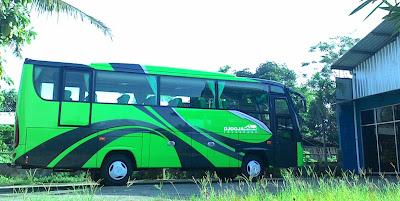 gambar dari sewa bus pariwisata di jogjakarta