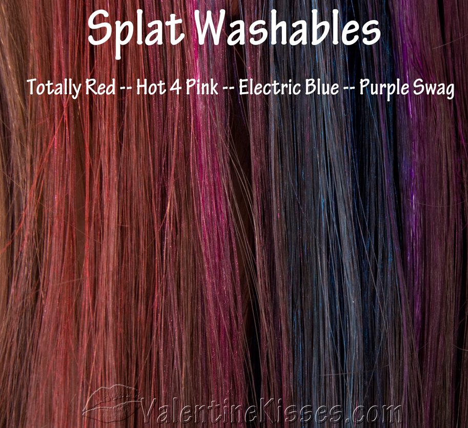 Valentine Kisses: Splat Washables in Electric Blue, Hot 4 ...
