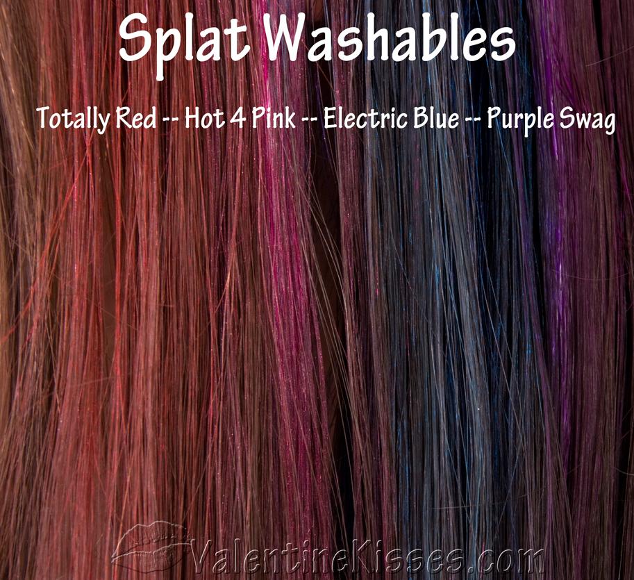 Valentine Kisses: Splat Washables in Electric Blue, Hot 4 ...