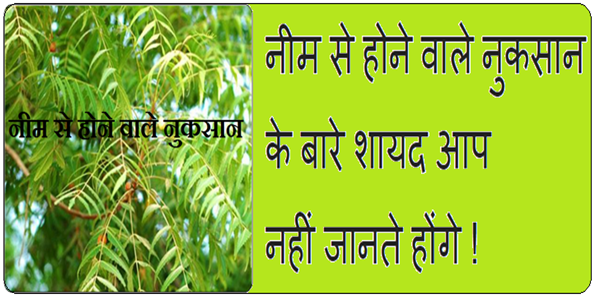Neem Ke Nuksaan In Hindi