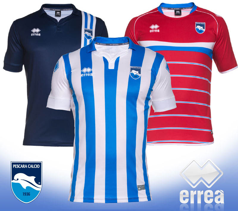 Pescara Calcio 15-16 Kits Released - Footy Headlines