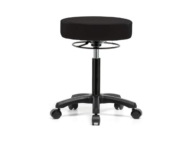 PERCH Life Rolling Height Adjustable Stool for Hardwood & Tile