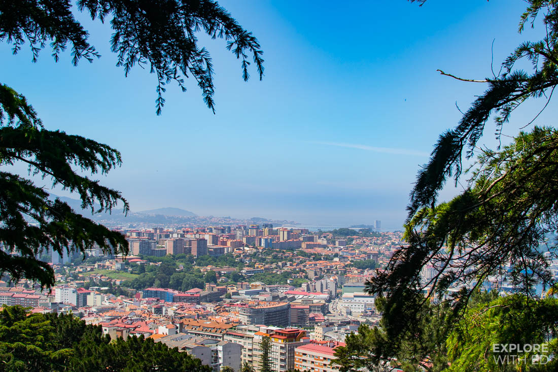 View from Monte Del Castro in Vigo