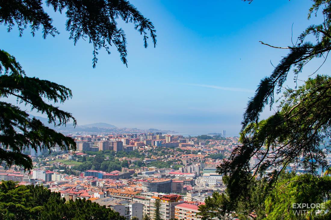 View from Monte Del Castro in Vigo