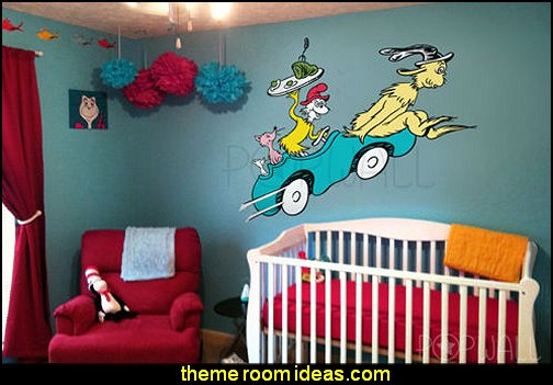 Dr Seuss Green Egg and Sam on Car Wall Decal Wall Sticker Dr Suess Decal