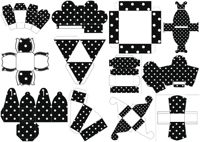 Black With White Polka Dots Free Printable Boxes For