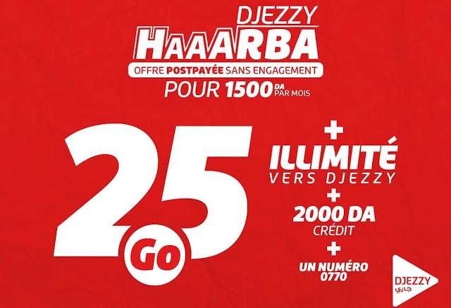 """جازي تطلق عرض """"HAAARBA"""" بمزايا رائعة لمشتركي الدفع البعدي"""