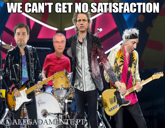 Meme Jorge Jesus Bruno de Carvalho Augusto Inácio e Octávio Machado – We Can't Get No Satisfaction