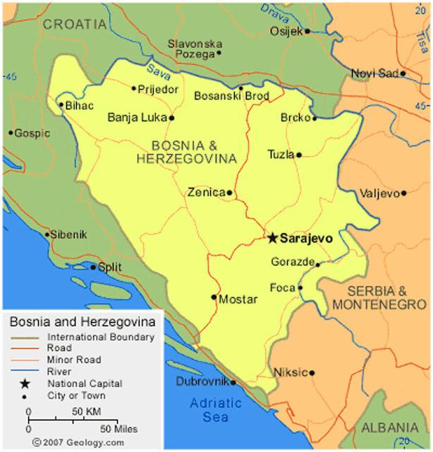 image: Bosnia and Herzegovina Map High resolution