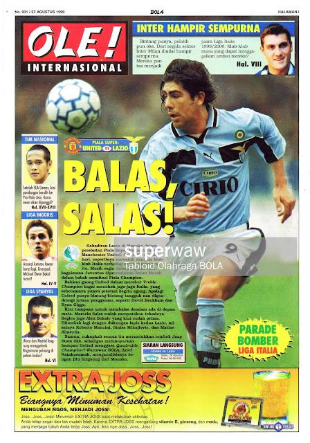 SUPER CUP MAN. UNITED VS LAZIO MARCELO SALAS