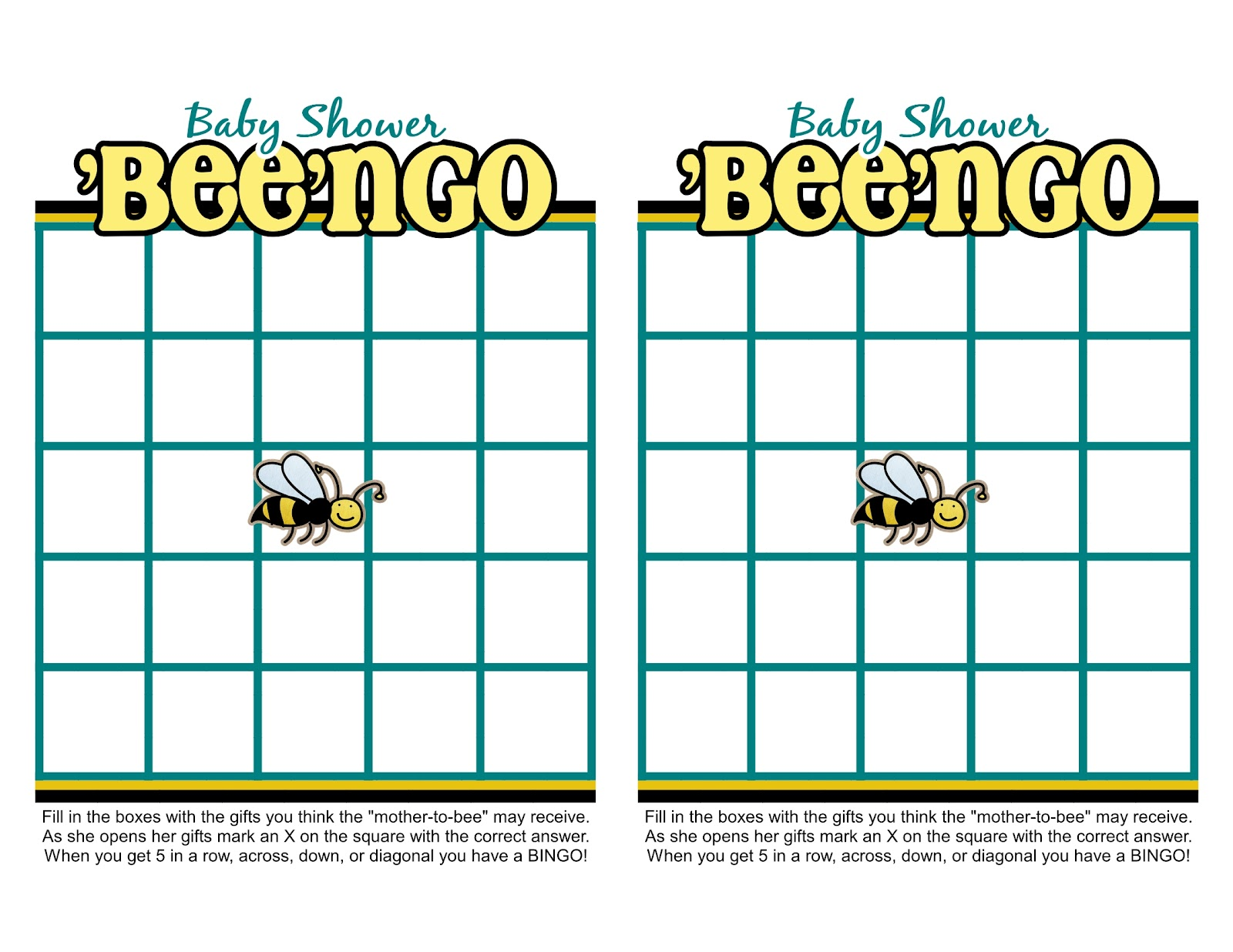 Sassy Sanctuary Ba Bee Shower Week The Games Free Printables
