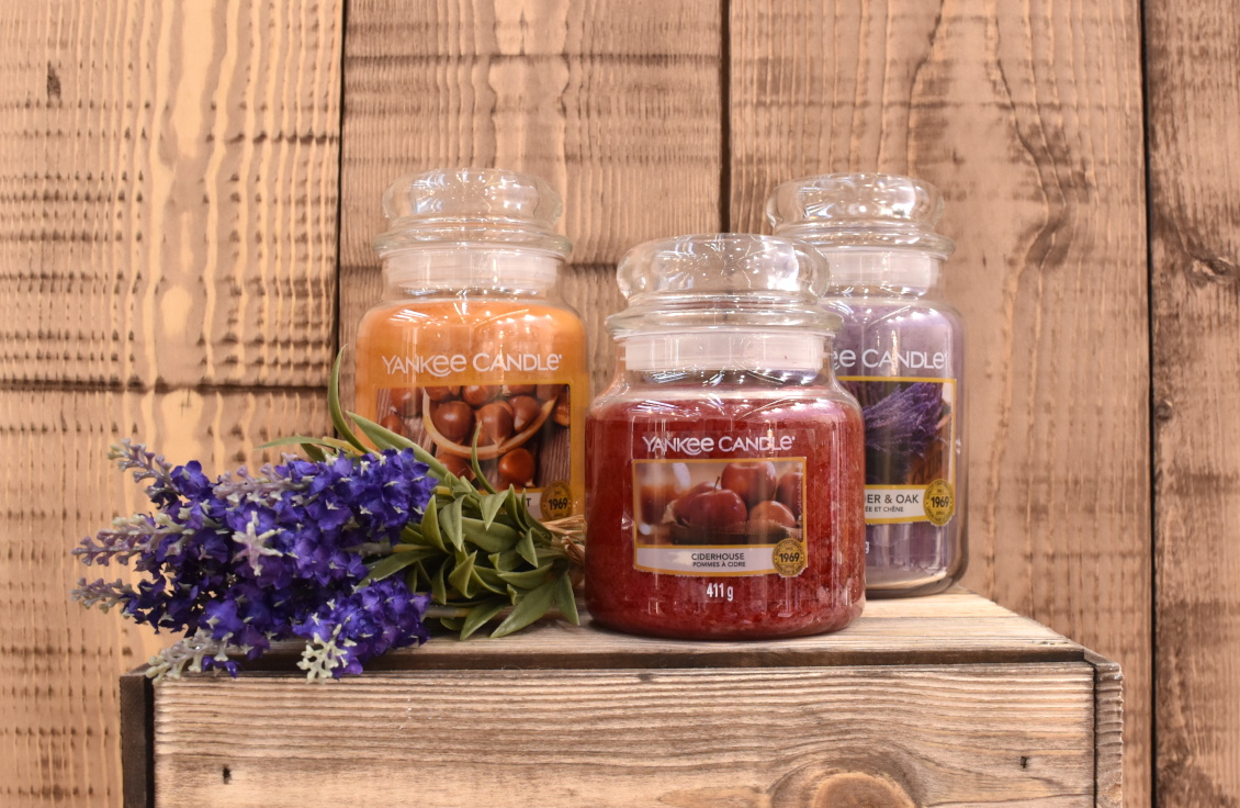 Yankee Candle - Farmer's Market Herbst 2019 - Golden Chestnut - Ciderhouse - Dried Lavender & Oak - Sweet Maple Chai