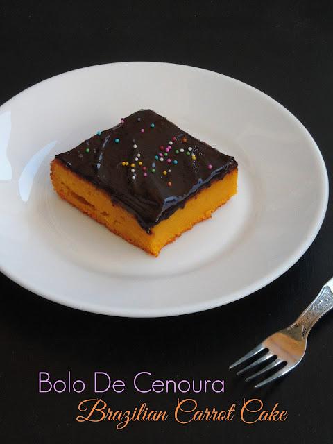 Bolo de Cenoura, Brazilian carrot cake
