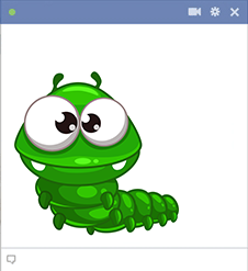 Green Bug Facebook Sticker