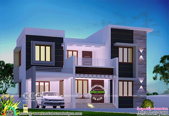 3 bedroom 1735 sq.ft modern home design