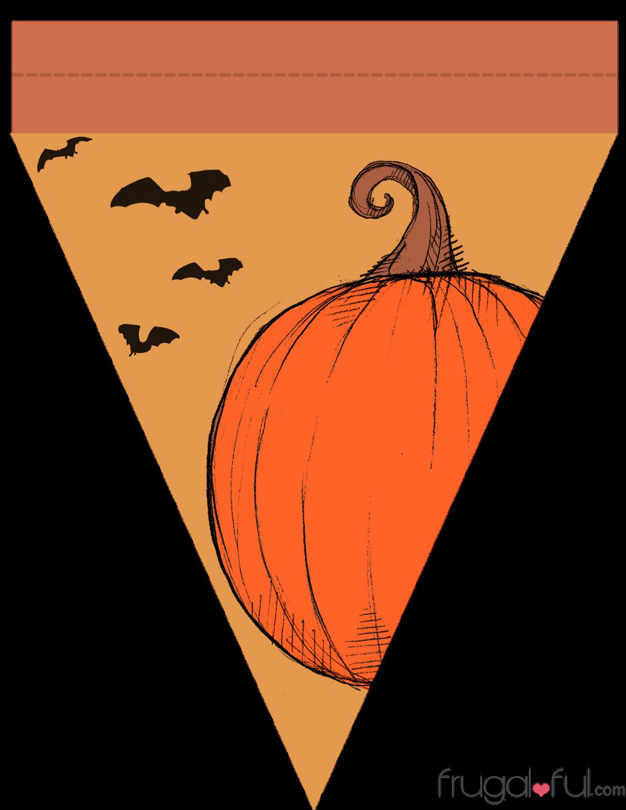 Diy Free Printable Halloween Triangle Banner Template