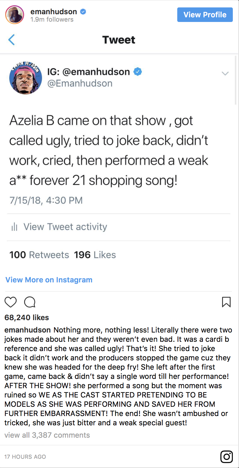 Rhymes With Snitch Celebrity And Entertainment News Wild N Out Witness Disputes Azealia Banks Claims