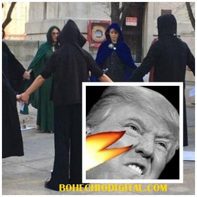 """VIDEO-Brujas del mundo preparan """"hechizo masivo"""" contra Presidente Donald Trump"""