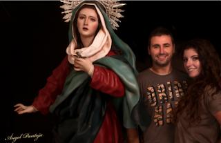 Los escultores gaditanos Ana Rey y Ángel Pantoja, galardonados con el premio 'La Hornacina' a la mejor escultura del año