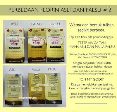 Perbedaan Florin Asli dan Palsu Pada Kemasan Liquid Soap