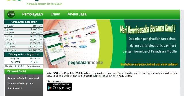 Peluang Bisnis Terbaru Lewat Pegadaian Mobile ~ Wahana Bogor