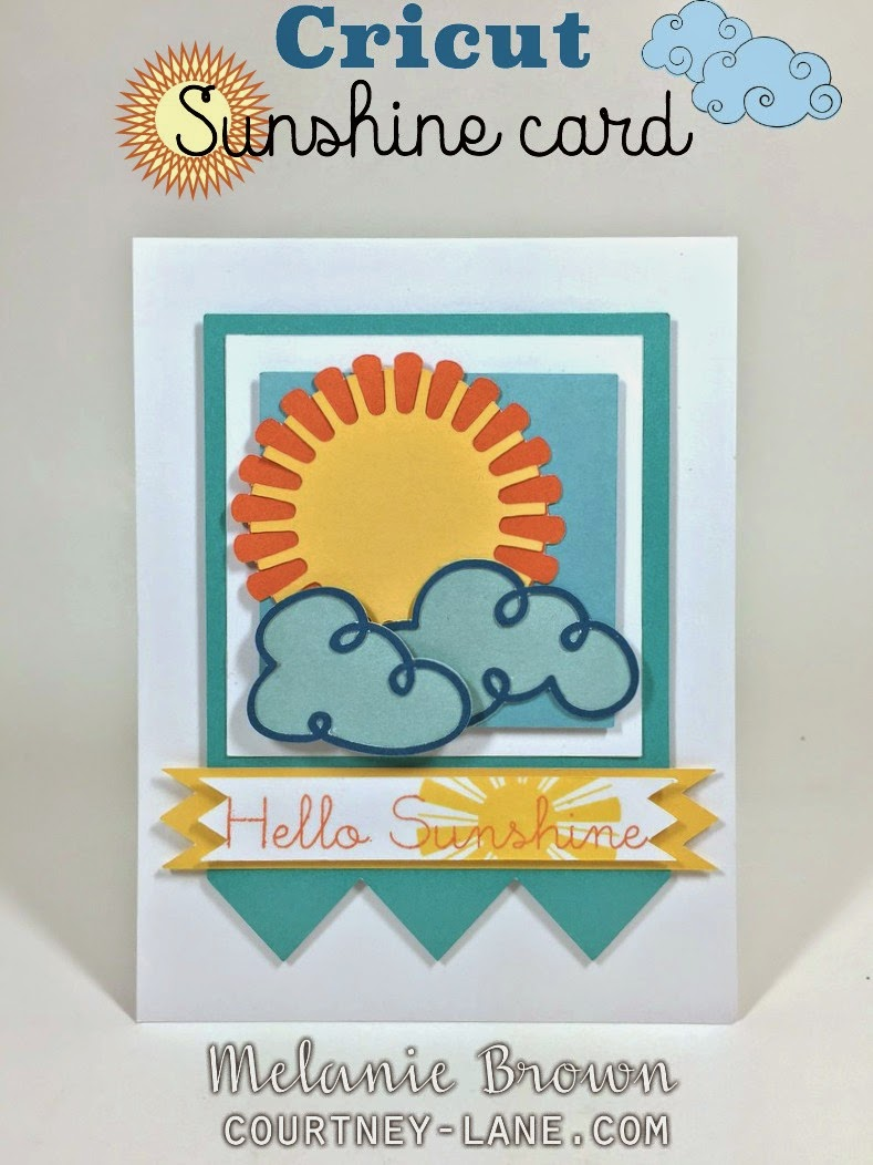 Cricut Sunshine card