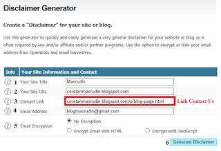 cara membuat dan memsang disclaimer pada blog, penting syarat GA