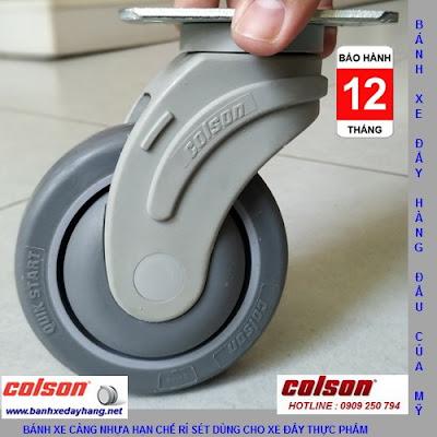 Bánh xe cao su di động Colson phi 100 x 32mm - 4 inch | STO-4856-448 bnahxedaycolson.com