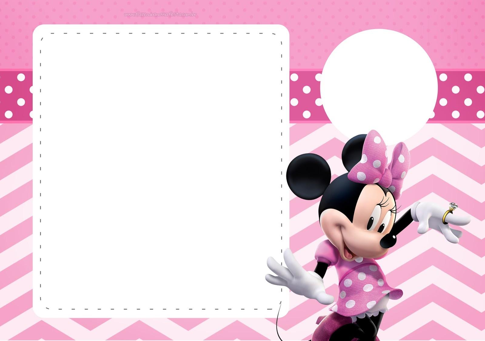 Coqueta Minnie En Rosa Invitaciones Para Imprimir Gratis