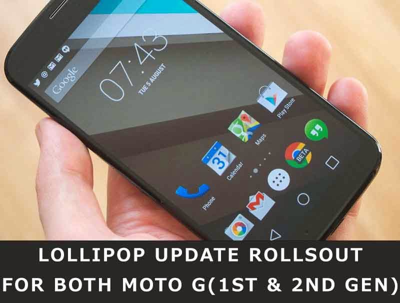 Lollipop Update Rolls Out For Both Moto G (1st & 2nd Gen)
