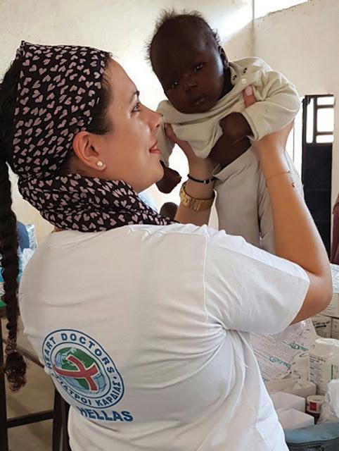 Η εθελόντρια αστυνομικός Στέλλα Σφετκοπούλου, των «Γιατρών Καρδιάς» μοιράζεται την εμπειρία της από το ταξίδι της στη μακρινή Αφρική