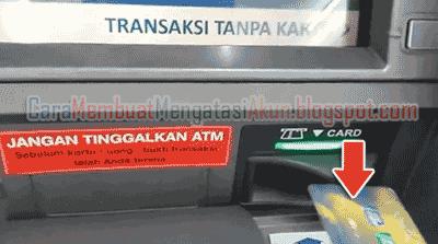 cara daftar mobile banking bca di mesin atm