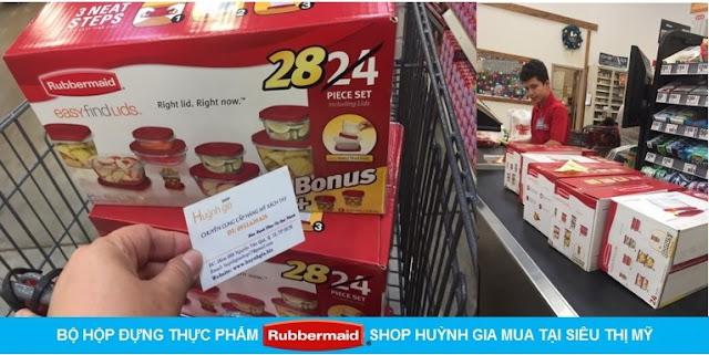 Bộ hộp nhựa đựng thực phẩm 12 hộp bonus 2 hộp Rubbermaid hàng Mỹ xách tay