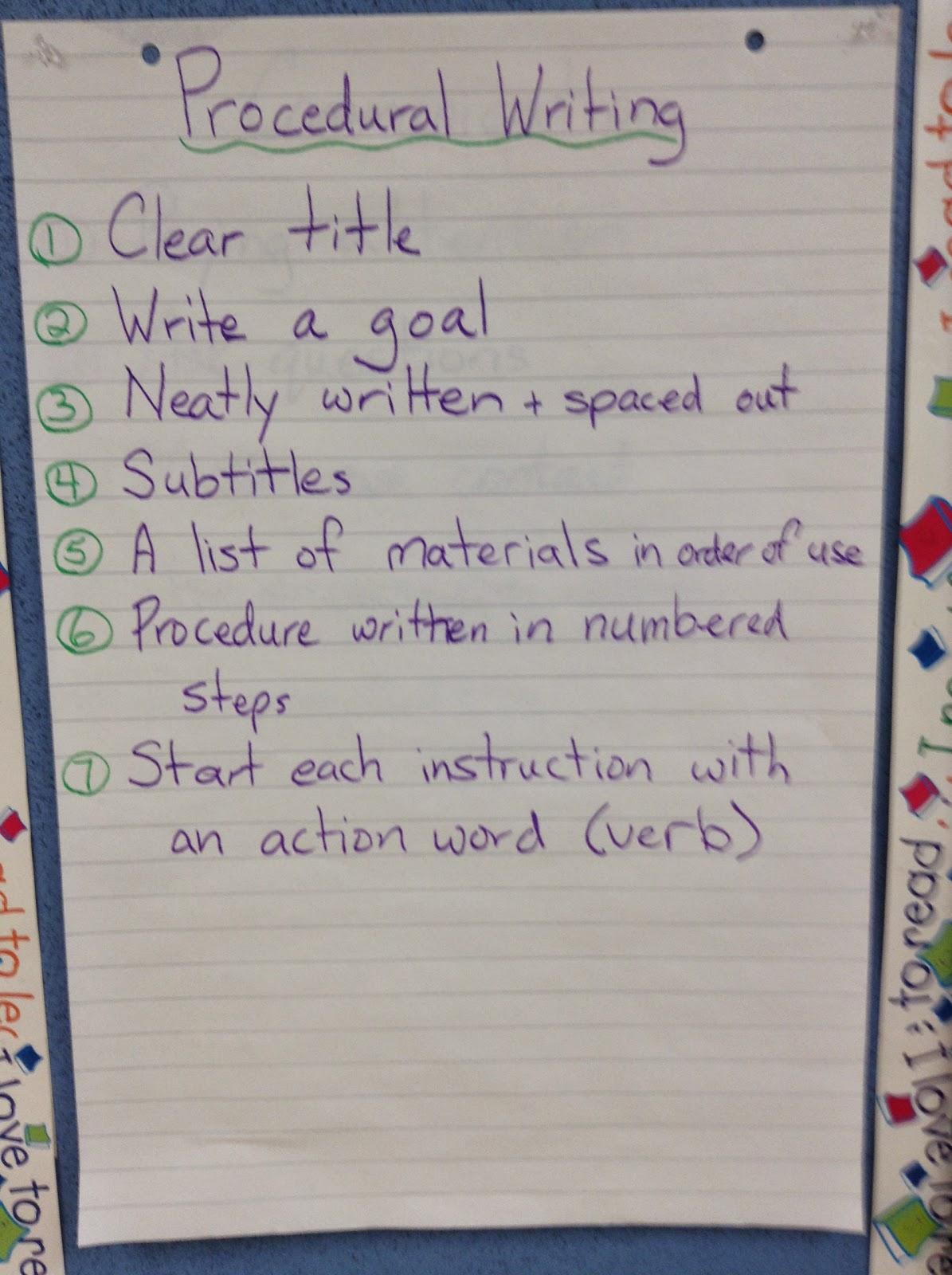 Procedural Writing Grade 5 Examples
