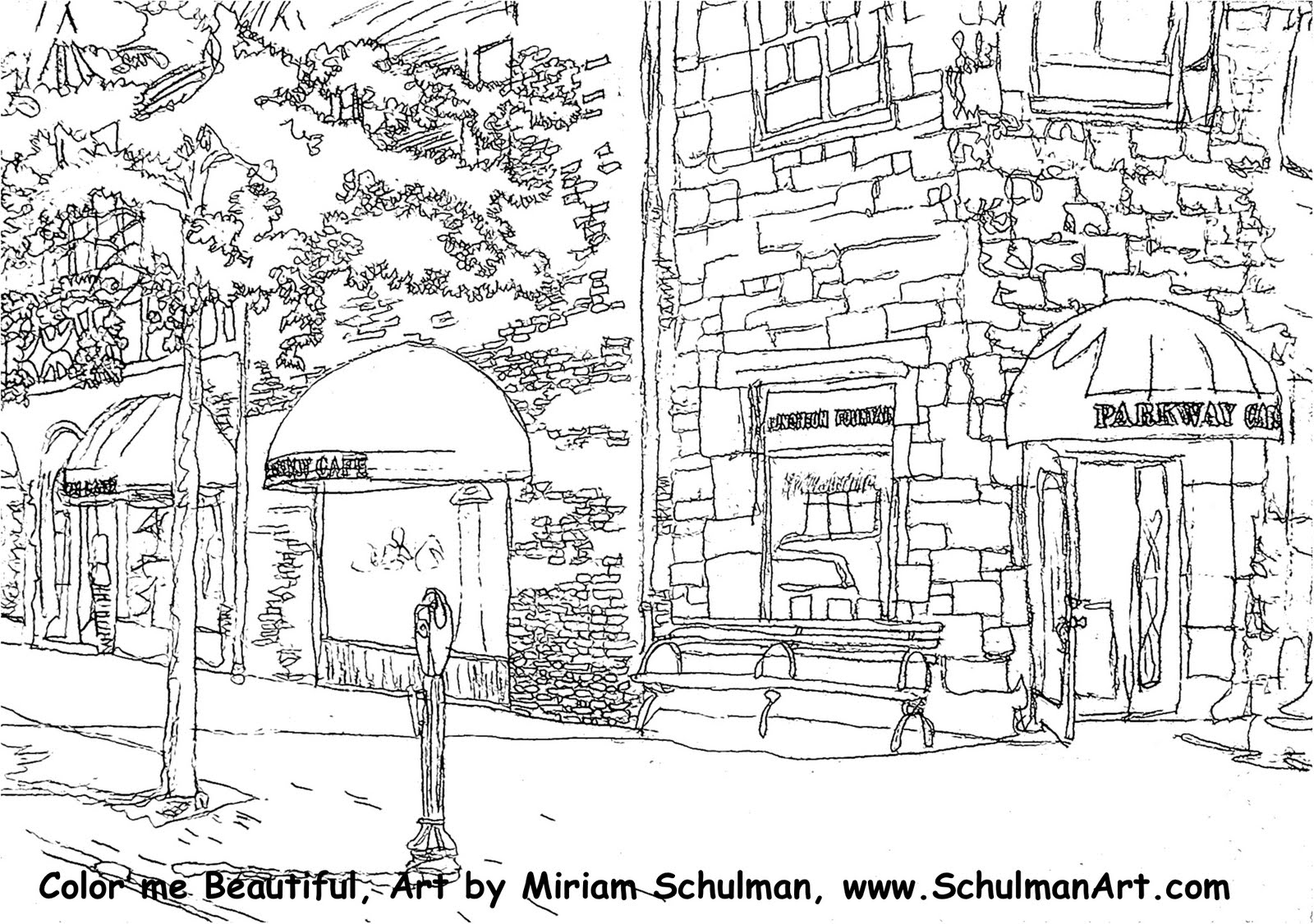 Coloring pages for kids at scarsdale art association show