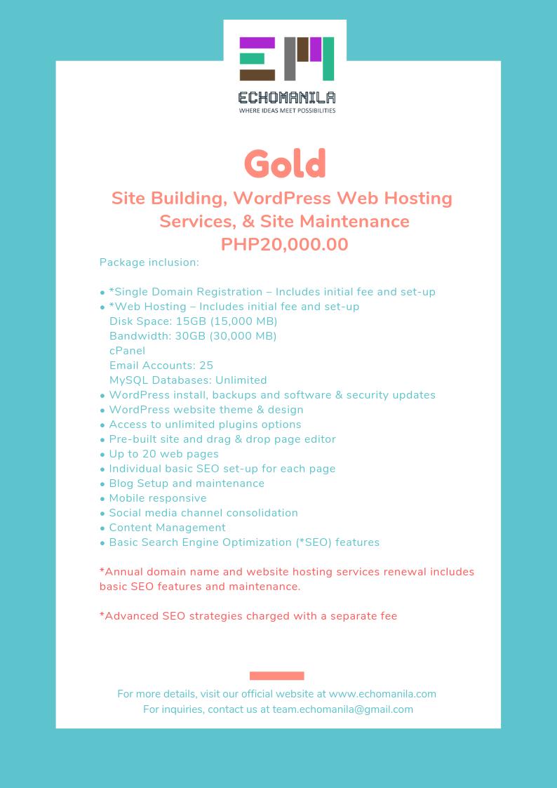 echomanila-wordpress-web-hsoting-package-gold
