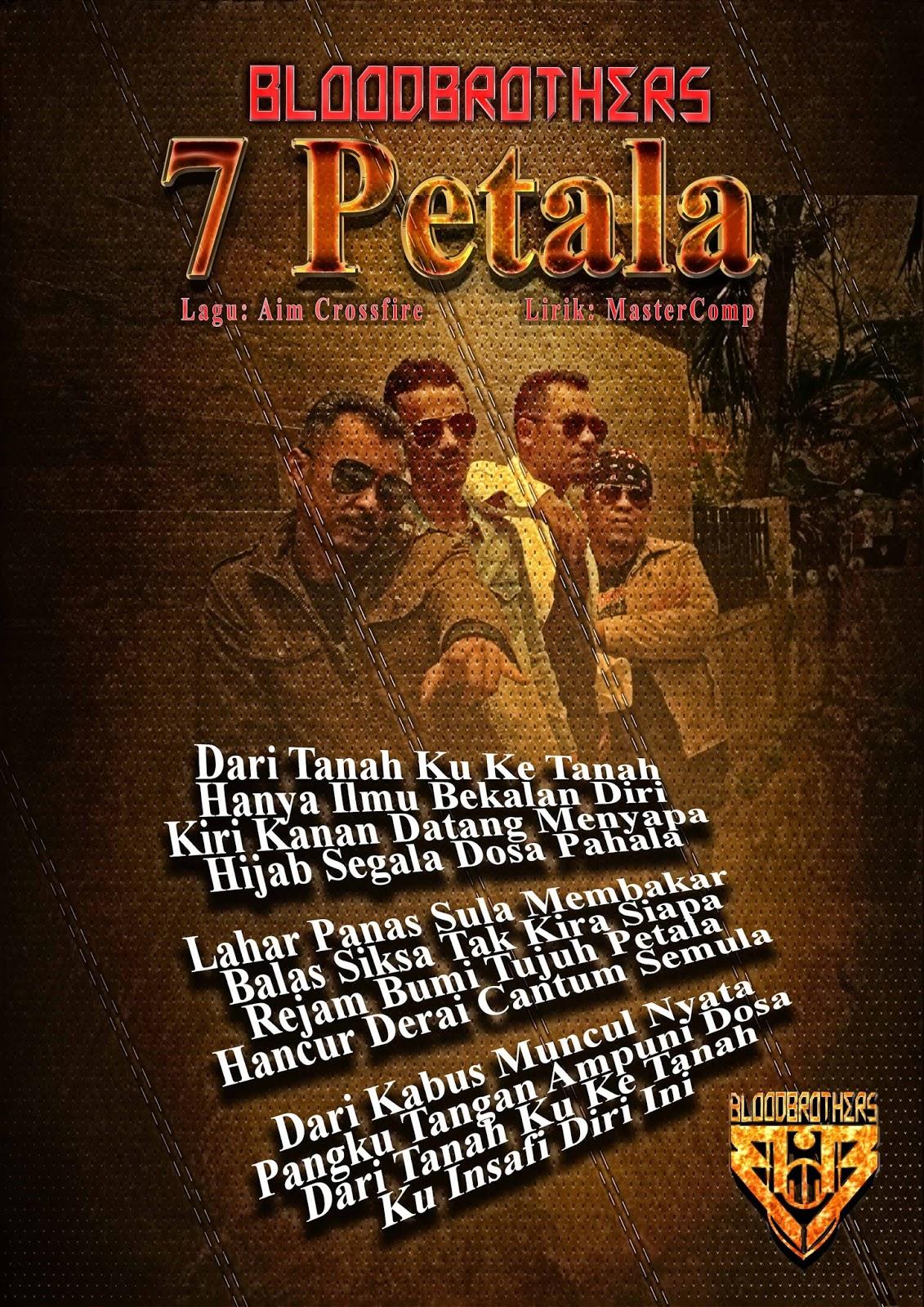 Lirik Bloodbrothers - Tujuh Petala