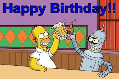 Happy Birthday Homer y Bender