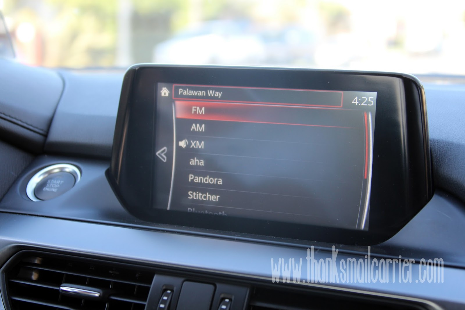 Mazda6 touchscreen