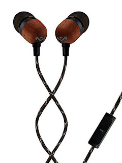House of Marley Smile Jamaica EM-JE041-SB in-Ear Headphones with Mic (Black)