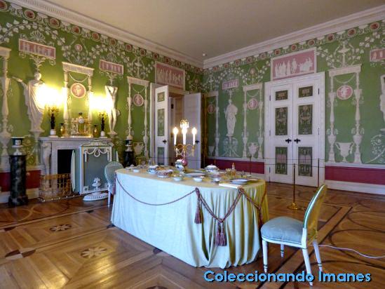 Habitación verde en el Palacio de Catalina de Pushkin